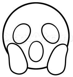 how to draw surprised emoji step 4