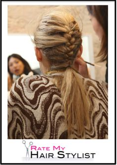 a french braid that hangs loose for those of us with tired arm syndrome