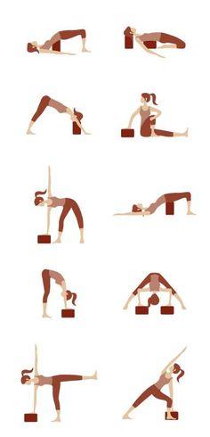 mattone yoga brick reyoga iyengar esercizi asana