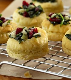 cranberry spinach blue cheese puffs best holiday appetizersbest appetizer recipessnacks