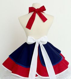 Pin up Girl Sailor Apron by OliviasStudio on Etsy