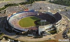 Aerial view of Arlington Stadium - First Rangers game April 21, 1972...  Demolished in 1994