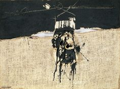 Millares, Manolo - Cuadro 85 - Musée d'art contemporain, Barcelone