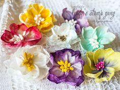 Wet Wipes Flowers Tutorial by Evgeniya Zakharova | Lindy's Stamp Gang