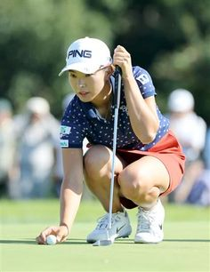 Hana Wakimoto of Japan looks on during the final round of the Udonken Ladies at Mannou