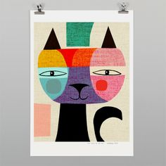 The Tale of Mr Cat Print by Inaluxe - Art Prints NZ Art Prints, Design Prints, Posters & NZ Design Gifts | endemicworld