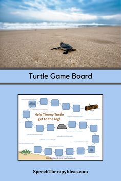 This quick, no-prep game board can turn drill work into a fun activity with just a die or spinner and some place markers.  It's perfect for a beach theme too! Speech Therapy Games, Therapy Activities, Therapy Ideas, Fun Activities, Turtle Games, Picture Cards, Speech And Language, Beach Themes, Board Games