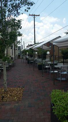 Shot of canopies we built for Butchertown Hall Back Bar, Beer Taps, Steel Wall, Canopies, Industrial Furniture, Sidewalk, Metal, Building, Side Walkway