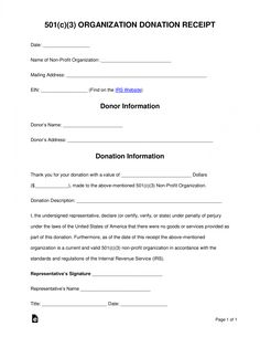 printable free 501c3 donation receipt template sample pdf tax letter for donation template pdf