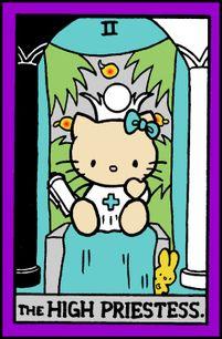 The High Priestess Hello Kitty Tarot Card