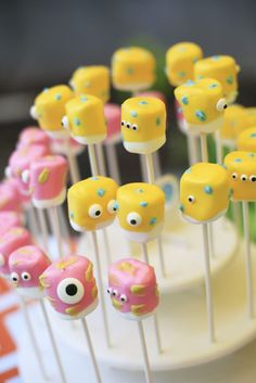Monster mallow pops from a Little Monster Birthday Party on Kara's Party Ideas   KarasPartyIdeas.com (27)