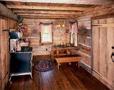 small rustic cabin k