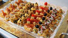 Canapés salés pour l'aperitif /احلى تشكيلة مملحات بريستيج لعراضة فاخرة ا... Party Canapes, Appetizers For Party, Arabic Food, Appetisers, Food Presentation, Finger Foods, Pasta Salad, Buffet, Brunch