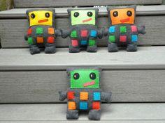 Stuffed Robot Plush Robot Custom Made by FranconiaRidgeStudio, $14.00
