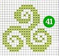 schéma triskell point de croix