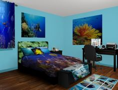 Underwater Wall Murals, take a dive into custom decor. Come see our Underwater designs at http://www.visionbedding.com/WallMurals/Underwater.php