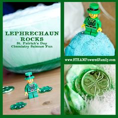 Part treasure hunt, part chemistry experiment, Leprechaun Rocks is an exciting way to celebrate St. Patrick's Day. Simple St. Patrick's Day Chemistry Fun! via @steampoweredfam