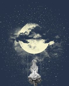 [New] The 10 Best Art Today (with Pictures) Dark Wallpaper, Cute Wallpaper Backgrounds, Pretty Wallpapers, Galaxy Wallpaper, Moon And Stars Wallpaper, Art Anime Fille, Anime Art Girl, Art And Illustration, Art Amour