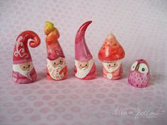 little dear tracks: a rainbow of NŌMs Cold Porcelain Tutorial, Dragons, Clothespin Dolls, Tiny Dolls, Paperclay, Fimo Clay, Christmas Elf, Holiday, Clay Creations