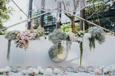 Real Wedding / Hanging Floral Installation / Flower Art / Perth / Varga Murphy Photography / The Butcher. The Baker, The Stylist and The Creator / Pastel Colours / Orchids and Roses / Wedding Style Inspiration / The LANE
