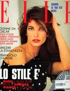 Stephanie Seymour ELLE Italia April '92