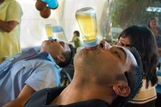 """Photo 28 of 32: light blue & brown Monkey / Baby Shower/Sip & See """"Nathaniel's baby shower """"   Catch My Party"""