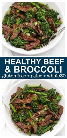 Healthy Beef and Broccoli - This take-out favorite is so easy to make at home and--BONUS--it's paleo, gluten free, and Whole30 approved!
