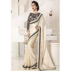 SOPHIE CHOUDHARY AMAIRA WHITE GEORGETT SAREE WITH DESIGNER BLOUSE http://www.vendorvilla.com/All-Products