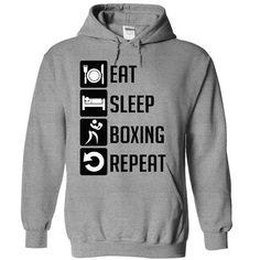 Eat, Sleep, Boxing and Repeat t shirts - #shirt dress #sweatshirts. WANT THIS => https://www.sunfrog.com/Sports/Eat-Sleep-Boxing-and-Repeat--Limited-Edition-8028-SportsGrey-10525728-Hoodie.html?68278
