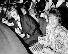 The Beatles attend Film Premiere of 'How I Won The War' at the London Pavilion, 18th October 1967. George Harrison. Paul McCartney. Ringo Starr. John Lennon: