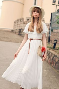Fashion Shoulder Off Ruffles Pleated Maxi Dress