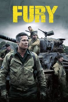 In the last months of World War II, as the Allies make their final push in the European theatre, a battle-hardened U. Army sergeant named 'Wardaddy' commands a Sherman tank called 'Fury' and its five-man crew on a deadly mission behind enemy lines. Brad Pitt, Jon Bernthal, Logan Lerman, Movie List, Movie Tv, Comic Movies, Horror Movies, Fury 2014, French Film