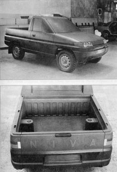 VAZ-2123 / Lada Niva Pickup Clay model, 1991