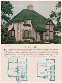 1929 Home Builders Catalog - Holden   Fireplace double sided in kitchen. Dining room into keeping room (expand kitchen)