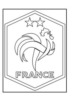 Coloriage De Foot Caen.Coloriage Foot France 2 Etoiles Coloriage99 Net