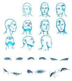 HEAD and EYES angles by Washu-M.deviantart.com on @DeviantArt
