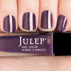 Julep- Alexis  Regal purple with gold microshimmer nail polish