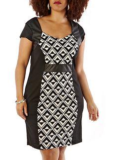 Plus-Size Graphic Print Dress @ Rainbow 19.99