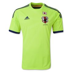 adidas has also released the Japan women's national team 2014/15 alternate kit. It features the official FIFA World Champions badge on its right side in recognition of Nadeshiko Japan's 2011 Women's World Cup triumph along along with pink sleeve cuffs (versus the blue on the men's away shirt).