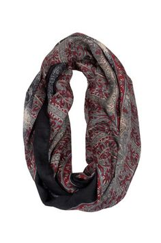 The Vintage Baroque Scarf in Black by M.Fredric Collection from MFredric.com
