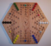 Marble Game With Wooden Board Traditional Colorful Game Board Made For Two Or More Playerspieces