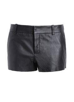 Mini short Zadig et Voltaire, esprit boyfriend, 100% cuir