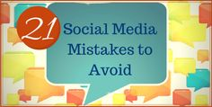 Great blog post at Kim Garst - Social Media for Small Business Owners :   We have all made mistakes when it comes to social media; but the best way to avoid them in the future is to draw attention to them. Fol[..]