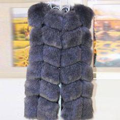 Long Fur Down Vest