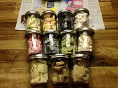 Cute way to store or display your chunk bar samples!