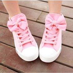 A 082606 aaa High Help Lovely Bowknot Canvas Shoes from MegaFashion Pink Canvas Shoes Kawaii girls cute fashion shoes Coloras picture MaterialRubberCanva SizeUS 9 visiting store www storenvy find more amazing cute fashion things some suit for you Pink Sneakers, Pink Shoes, Girls Shoes, Women's Shoes, Me Too Shoes, Shoe Boots, Pink Converse, Pastel Shoes, Converse Shoes