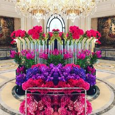 COLOR POP - COLOR LOVE - COLOR CRUSH - 💜💗💜💗- #TeamLeatham - #Paris - #France - #LobbyLove - #Flowers - #SummerFlowers - #Mirrored - 💜💗💜💗