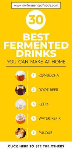 Fermented drinks are tasty, appetizing and versatile. They offer numerous health benefits as they are rich in probiotics which help improve our immune system. Check out fermented drinks you can make at home. Fermentation Recipes, Canning Recipes, Whole Food Recipes, Vegan Recipes, Drink Recipes, Dinner Recipes, How To Eat Paleo, How To Stay Healthy, Kombucha How To Make