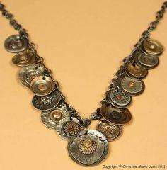 Smashed button jewelry by Christine Marie Davis