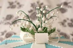 Lily of the valley wedding cake!